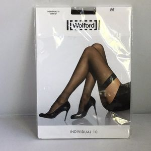 Wolford Individual 10 Stay Up M NEW Black